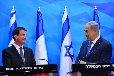 Нетаниягу встретился спремьер-министром Франции. «Готов увидеться вПариже сМахмудом Аббасом»